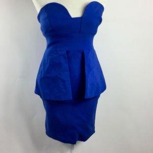 Caribbean Queen Royal Blue Strapless Sheath Dress